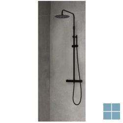 Novellini easy 2 showerpipe, ther.,regend.ø 30 h.94-125cm, zwart mat,belgaqua | EASY2RH | LAMO