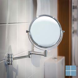 Smedbo outline cosm. spiegel wand x5 draaibaar rond chroom | FK438 | LAMO