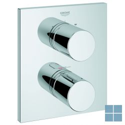 Grohe grohtherm 3000 cosmo. inbouwthermostaat vierkant 2 systemen chroom | G19567000 | LAMO