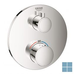 Grohe grohtherm smartbox afwerkset thermostaat 2 systemen chroom   G24076000   LAMO