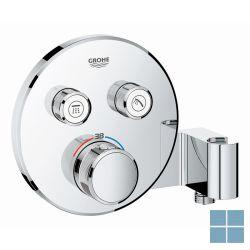 Grohe smartcontrol inbouwthermostaat en houder 2 systemen rond chroom | G29120000 | LAMO
