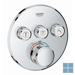 Grohe smartcontrol inbouwthermostaat 3 systemen rond chroom | G29121000 | LAMO