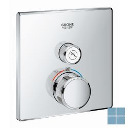 Grohe smartcontrol inbouwthermostaat 1 systeem vierkant chroom | G29123000 | LAMO