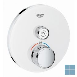 Grohe smartcontrol inbouwthermostaat 1 systeem vierkant moon white | G29150LS0 | LAMO
