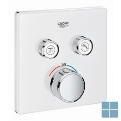 Grohe smartcontrol inbouwthermostaat 2 systemen vierkant moon white | G29156LS0 | LAMO