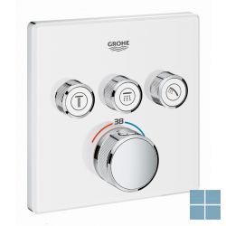 Grohe smartcontrol inbouwthermostaat 3 systemen vierkant moon white | G29157LS0 | LAMO