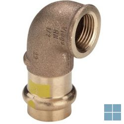 Viega profipress gas brons bocht 90° dia 15 x 1/2f   GB1512F   LAMO