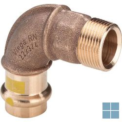 Viega profipress gas brons bocht 90° dia 22 x 3/4m | GB2234M | LAMO