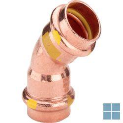 Viega profipress gas koper bocht 45° ff dia 28 | GB4FF28 | LAMO