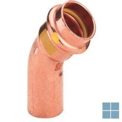 Viega profipress gas koper bocht 45° mf dia 22 | GB4MF22 | LAMO