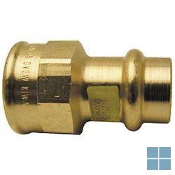 Viega profipress gas brons overgangskoppeling dia 22 x 3/4f | GO2234F | LAMO