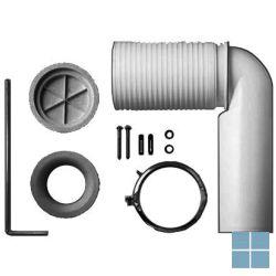 Laufen vario afvoerbocht voor closet, center afvoer 7-22cm | H8900920000001 | LAMO