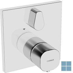 Hansabluebox afwerkset vierkant 2 systemen chroom | HA81149562 | LAMO