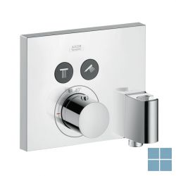 Hg axor showerselect square thermostaat 2 systemen fixfit/po kleur black | HG36712330 | LAMO