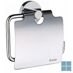Smedbo home toiletrolhouder met klep chroom | HK3414 | LAMO