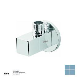 Clou inbe hoekstopkraan type 6 vierkant chroom | IB0645006 | LAMO