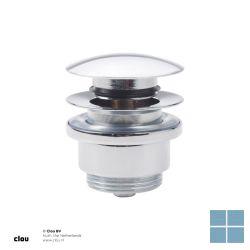 Clou inbe stop/go afvoerplug zonder overloop chroom | IB0651005 | LAMO