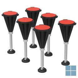 Is ultra flat s potenset (6 stuks met 3m dubbelzijdige tap) | K936467 | LAMO