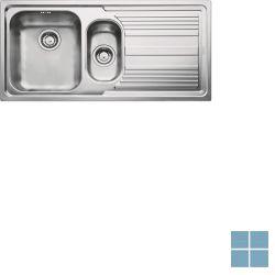 Franke logica-line inbouw-glad-omkeerbaar 1000x500 mm inox | LLX6511 | LAMO