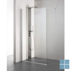 Lm vaste wand by is 160×200cm, alu. prof. zilver, held. glas 8mm ideal clean | LMWAND160 | LAMO