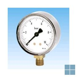 Watts manometer 0-16 kg onderaansluiting 1/4 | M160 | LAMO