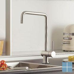 Kvr x-tn keukenmengkraan inox look | N432031 | LAMO