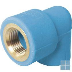 Niron ppr bocht blauw 90° dia 25 x 3/4f | NGF2534 | LAMO
