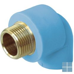 Niron ppr bocht blauw 90° dia 25 x 3/4m | NGM2534 | LAMO