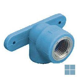 Niron ppr muurplaat blauw dia 20 x 1/2f 2fix | NGTF2012 | LAMO