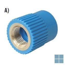 Niron ppr nippel blauw dia 20 x 1/2f | NRFF2012 | LAMO