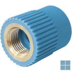 Niron ppr nippel blauw dia 25 x 3/4f | NRFF2534 | LAMO