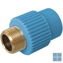 Niron ppr nippel blauw dia 25 x 3/4m | NRFM2534 | LAMO