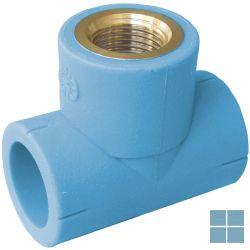 Niron ppr t-stuk blauw dia 25 x 3/4f x 25 | NTF2534 | LAMO
