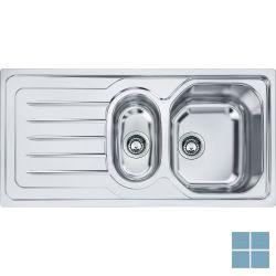 Franke onda-line inbouw-glad-omkeerbaar 1000x500 mm inox | OLX6511 | LAMO
