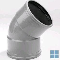Pvc bocht grijs met rubber dia 110 45° ff | PC11FF4 | LAMO