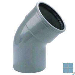 Pvc bocht grijs met rubber dia 110 45° mf | PC11MF4 | LAMO