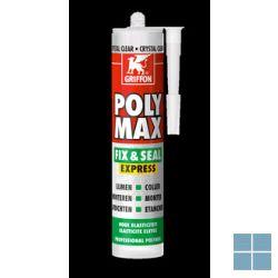 Bison/griffon polymax fix & seal clear 300 g | POLYMAX | LAMO