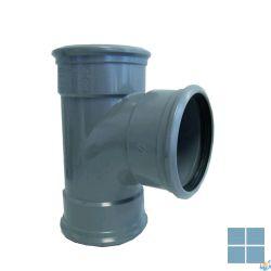 Pvc t met rubber dia 110 90° fff | PT119 | LAMO