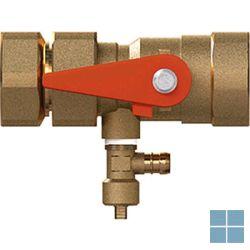 Reflex snelkoppeling / kapventil 4/4 x 4/4 met afsluit en leeglaatkraan | REF7613100 | LAMO
