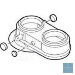 Remeha rookgasafvoeradapter excentrisch Ø 80/80 calenta quinta pro 45/calora | RMHS100762 | LAMO