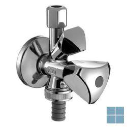 Schlosser dubbeldienstkraan chrome blinkend beluchter 1/2 m afwasm+lavabo | SKW | LAMO