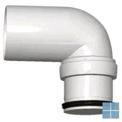 Smartline bocht wit dia 40 90° met 1 koppelstuk | SMARTLINE178041 | LAMO