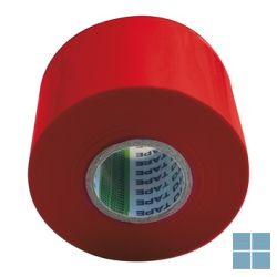 Pvc plakband / tape rood 5 cm - 20 m (prijs/stuk) | SMBR | LAMO