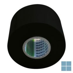 Pvc plakband / tape zwart 5 cm - 20 m (prijs/stuk) | SMBZ | LAMO