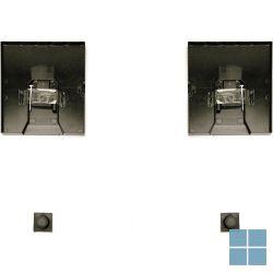 Mirover onzichtbare spiegelbevestiging (set=max. 14kg) [glas 2,5kg/m² / mm dikte] | SOH01 | LAMO