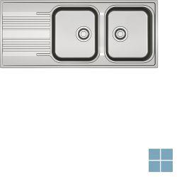 Franke smart inbouw-glad-omkeerbaar 1160x500 mm inox   SRX6211   LAMO