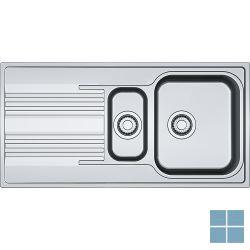 Franke smart inbouw-glad-omkeerbaar 1000x500 mm inox   SRX6511   LAMO