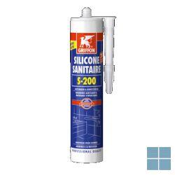 Bison/griffon sanitaire silicone transparant 300 ml | ST | LAMO
