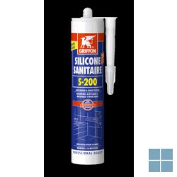 Bison/griffon sanitaire silicone wit 300 ml | SW | LAMO