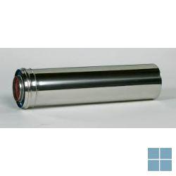 Ubbink inox buis 1000mm inox/inox dia 80/125 | UBB702265 | LAMO